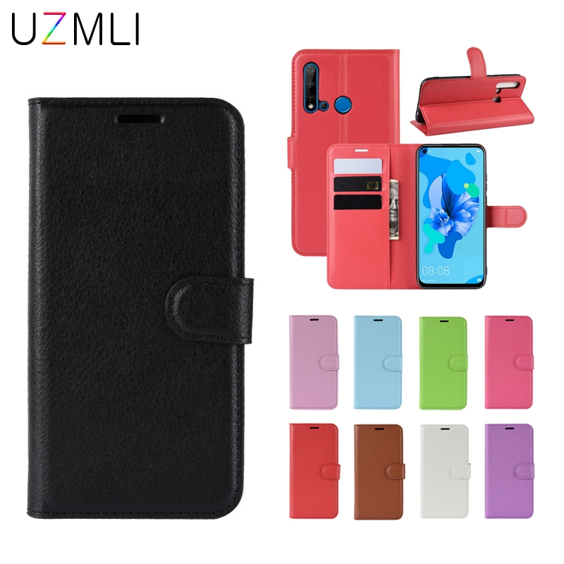 For <font><b>Huawei</b></font> P30 <font><b>P20</b></font> <font><b>Pro</b></font> Lite P smart Z Plus 2019 Flip Leather Back Cover Case with Credit Card Stand Wallet <font><b>Smartphone</b></font> Bag Coque image