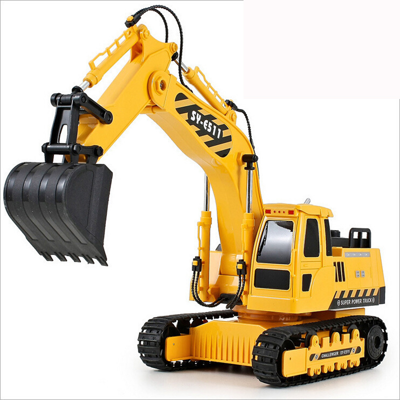 660 degree rotation Big size RC excavator truck Simulation engineering car excavator model boys love toy best gift for Christmas