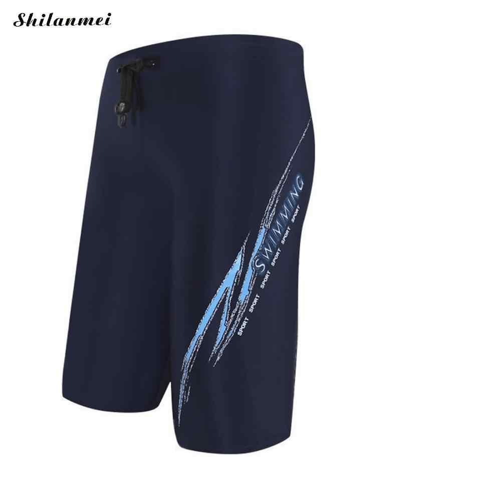 12a110c567 ... 2018 Repellent Men'S Long Racing Swimming Swim Trunks Men Sport Shorts  Classic Man Swimwear Men'S Briefs