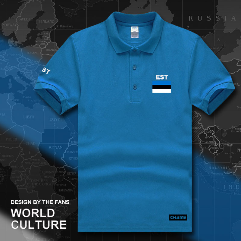 Estonia Estonian   polo   shirts men short sleeve white brands printed for country 2017 cotton nation team flag new EST Eesti