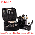 PLEEGA Brand Women Cosmetic Bag High Quality Travel Cosmetic Organizer Zipper Portable Makeup Bag Designers Trunk Cosmetic Bags