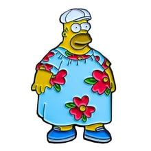 Simpsons emalia Pin