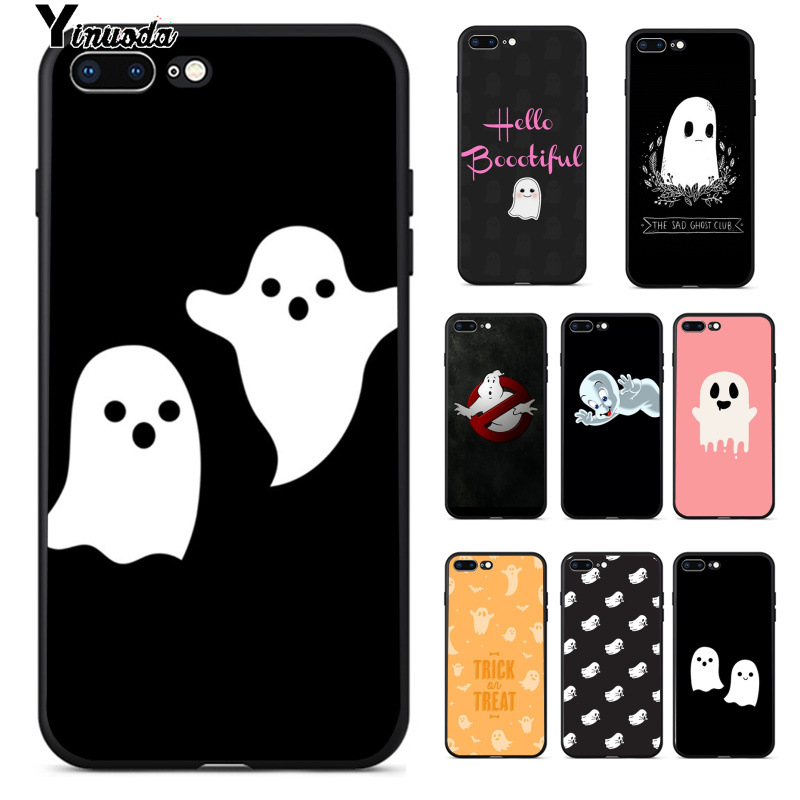 Yinuoda cute <font><b>Ghost</b></font> Ultrathin Novelty Fundas Phone <font><b>Case</b></font> Cover for iPhone 8 7 6 6S Plus 5 5S SE XR X XS MAX Coque <font><b>Shell</b></font> image