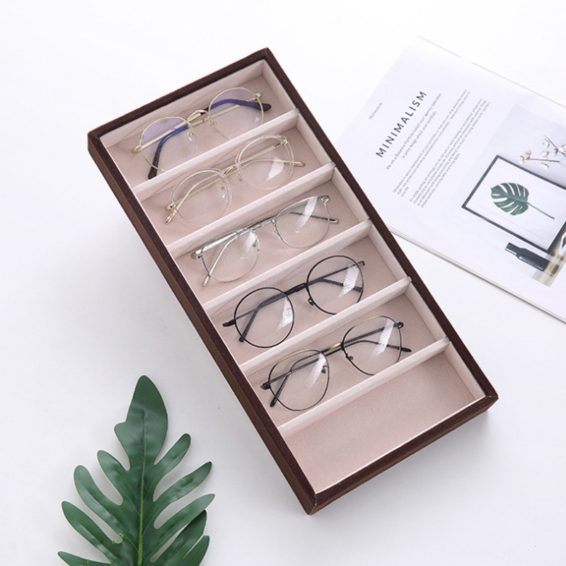 Top Selling 6 Grids Sunglasses Display Box Jewelry Display Packaging Props Jewellery Organizer Tray Fashion Cases Packaging