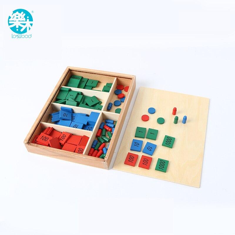LOGO BOIS Bébé Jouet Montessori Jeu de Timbre De Mathématiques de La Petite Enfance L'éducation Préscolaire Formation Enfants Jouets Brinquedos Juguetes