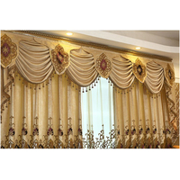 1PC Valance European Pelmet Curtains for Kitchen Window Valance Curtains for Living Room Blackout Curtains for Bedroom Beaded