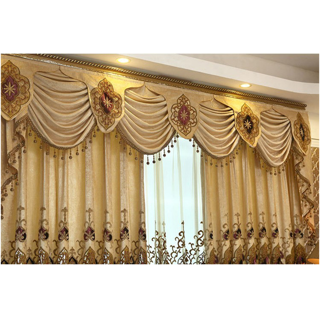 1PC Valance European Pelmet Curtains For Kitchen Window Living Room Blackout