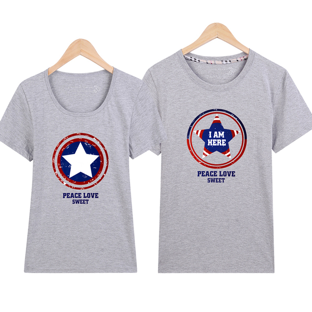 4d7e96e21a Couple T Shirts tshirt harajuku ulzzang tumblr t shirt women peace love  sweet t-shirt kawaii t shirt femme womens t shirt