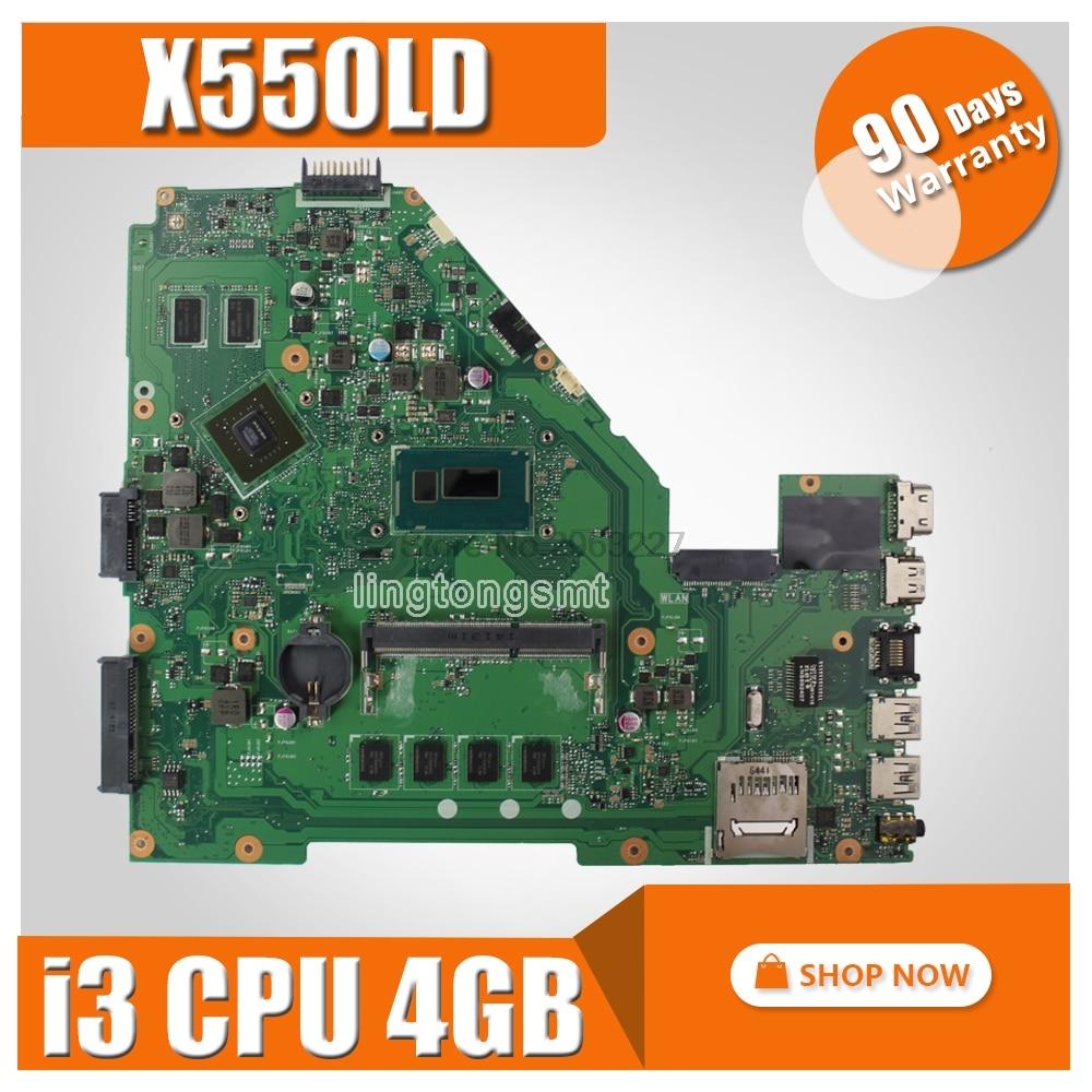 X550LD Motherboard REV2.0 i3 CPU 4GB GT820M For ASUS X550L Y581L X552L R510L X550LN X550LC