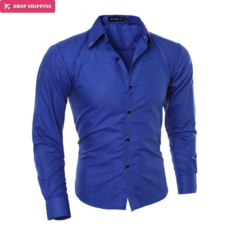 Men's Long-sleeved Dress Shirt European Dragons, Men's Casual Slim Lapel Quality Large Size M ~ 5XL