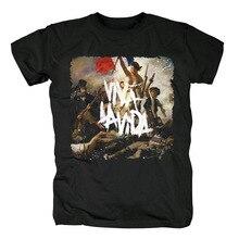 Bloodhoof קולדפליי רוק אלטרנטיבי גברים של למעלה שחור חולצה אסיה גודל