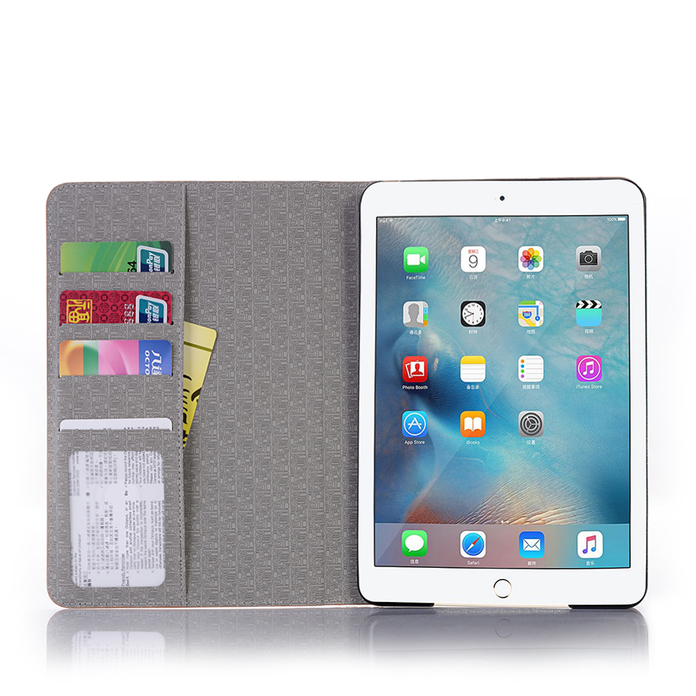 Business Leather Case For IPad 9.7 2017 2018 Tablet Support Stand Cover With Card Solt Protective Shell For IPad Air / Air 2