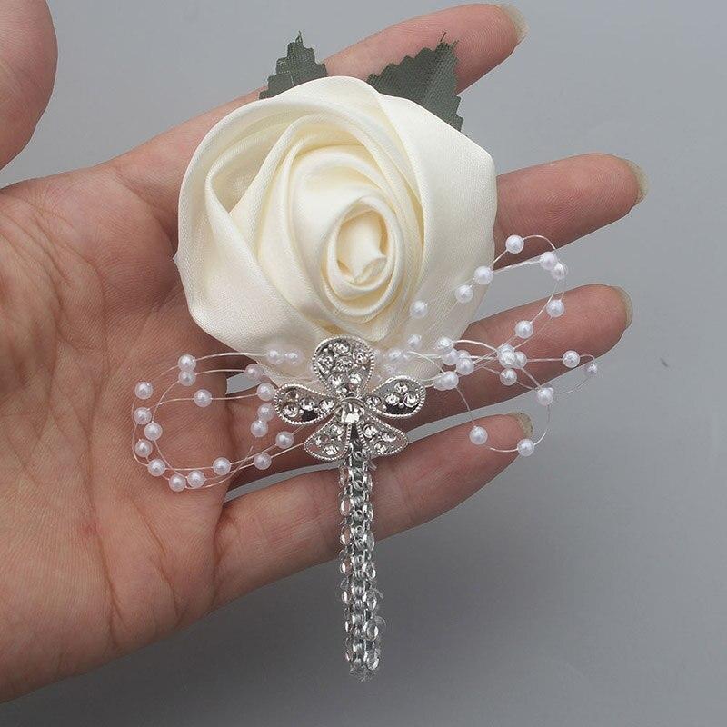 Wedding Flowers Men: Factory Ivory Diamond Flower Lapel Pin Mens Wedding