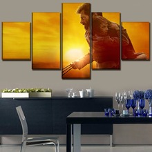 5 Pieces Sunset Landscape Movies Logan Poster Modern Wall Art Decorative Modular Framework Picture Canvas Print One Set Painting