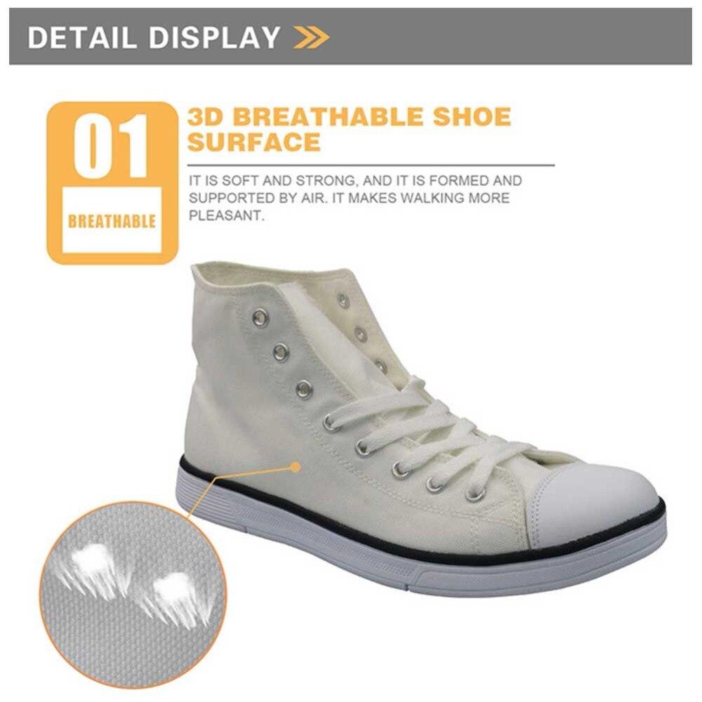 Nouveauté printemps chaussures hommes Graffiti peinture vulcaniser chaussures pour hommes mode haut chaussures plates homme Espadrilles - 3