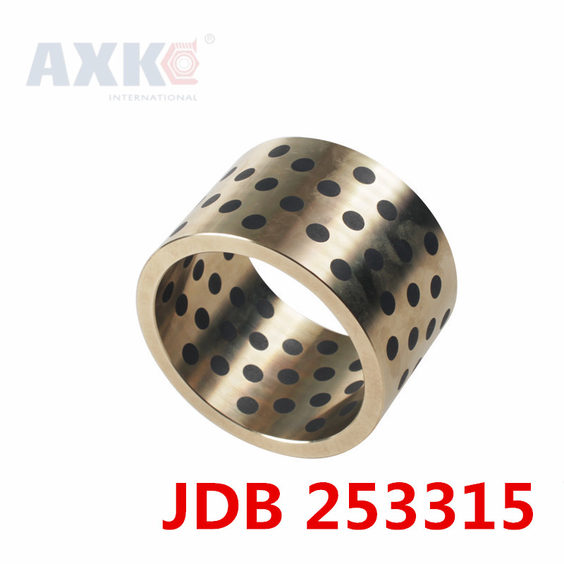 AXK Rolamentos Ball Bearing Jdb2515/jdb253315 Linear Graphite Copper Set Bearing Bushing Oil Self-lubricating Jdb 25*33*15mm jdb
