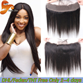 Brazilian Lace Frontal Closure Straight 13x2 Ear To Ear Lace Frontals With Baby Hair Virgin Human Hair Full Frontal Lace Closure