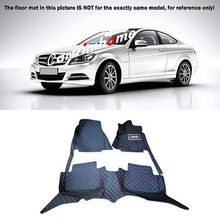 Left Hand Drive! Car Floor Mat Pad 1set For Mercedes Benz C Class W204 2008-2013