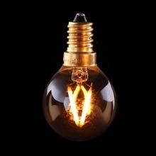 10 шт. в упаковке, винтажный светодиодный светильник с нитью накаливания, 1 Вт, 2200 к, золотой оттенок, Edison G40, Глобус Стиль, декоративная люстра, бытовой светильник s, с регулируемой яркостью