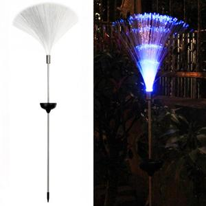 Image 4 - Outdoor Glasvezel Gazon Licht Novelty Zonne energie Kleur Veranderende Led Night Tuin Decoratieve Lamp
