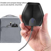 USB Table Top Conference Microphone Meeting Mute Stereo Omnidirectional Mic @JH