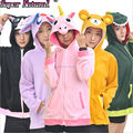 Kigurumi Autumn Winter Warm Women Plus Size Blue Pink Purple Unicorn Animal Hoodies With Ear Cosplay Couples Coat Jacket Shirt