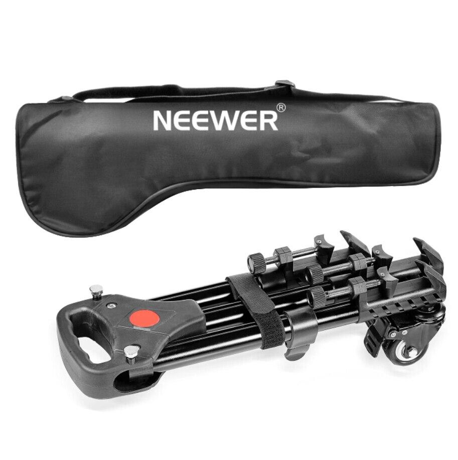 Neewer Профессиональный Универсальный штатив для фотокамеры кукла подставка с резиновыми колесами для Canon видеокамера Nikon DSLR
