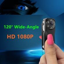 120 grados de visión de gran angular noche HD 1080 P cámara oculta mini DV espía mini cámara ultra pequeña sigilo videocámara