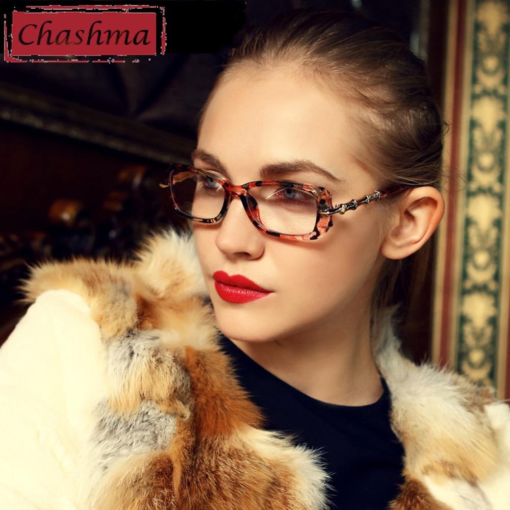 Чашма Декорация Най-нови жени Оптични очила Миопия Очила Рамка Очила рамка