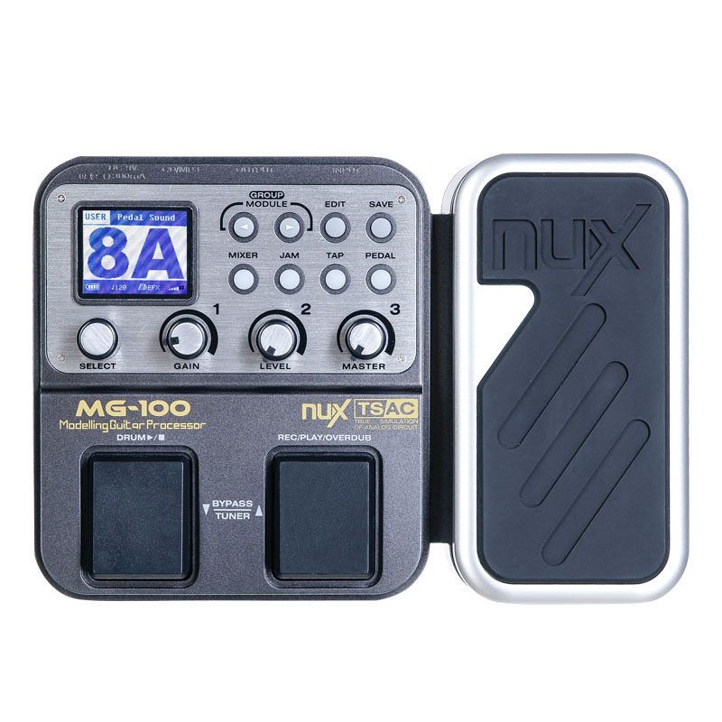 NUX MG 100MG100 Guitar Multi Effects Processor Pedal 58 Effects 6 band graphic EQ drum machine