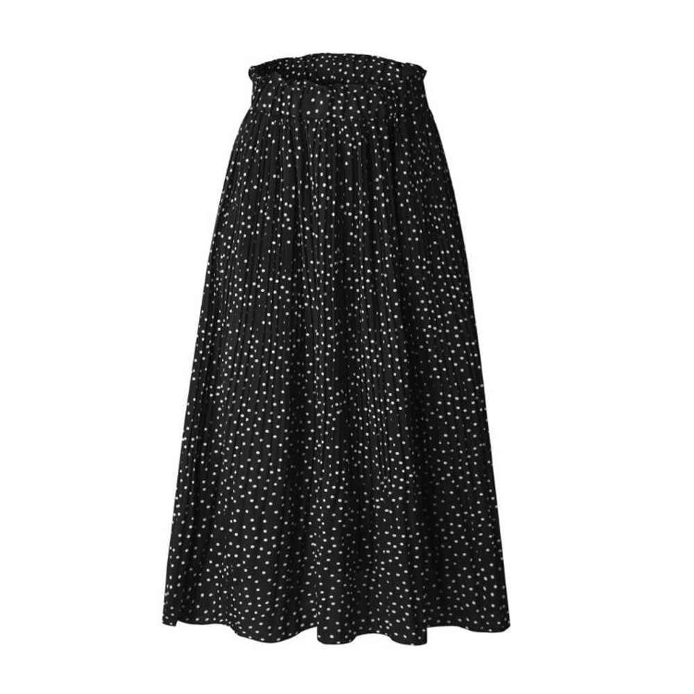 Высокая талия цветочный принт летние юбки женские Boho Макси пляжная юбка в стиле бохо Длинные повседневные винтажные праздничные миди юбки Jupe Femme