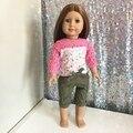 2 шт./компл. одежды Американская Девушка Одежды Куклы 18 дюймов одежды куклы и аксессуары платья JPO-1