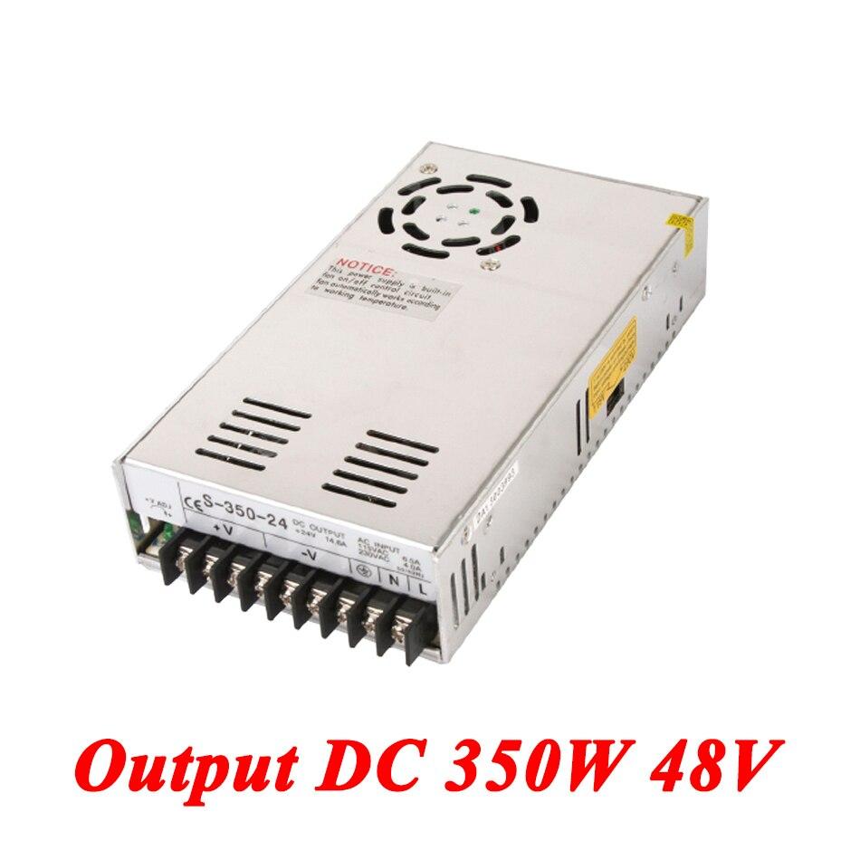 S-350-48 switching power supply 350W 48v 7.3A,Single Output voltage converter for Led Strip,AC110V/220V Transformer to DC 48V 1200w 48v adjustable 220v input single output switching power supply for led strip light ac to dc