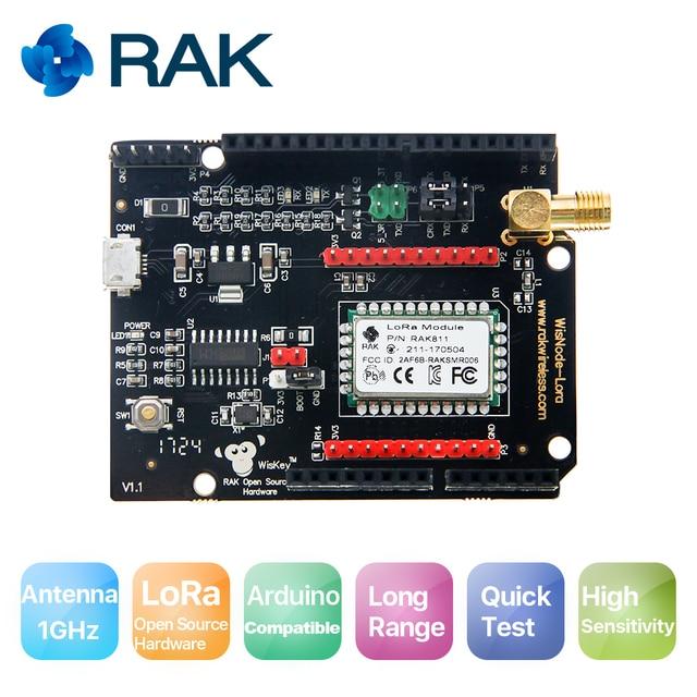 Module de Lora de WisNode, appui AS923, 868/915/433/470 MHz, LoRa/TTN, LoRa de source ouverte, carte de développement de RAK811, bouclier de LoRa Arduino