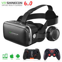 VR shinecon 6.0 3D lunettes boîte google carton réalité virtuelle lunettes VR casque pour 4.5-6.0 pouces ios Android smartphone