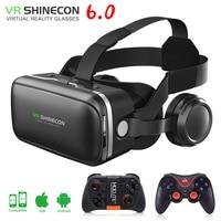 Original VR Shinecon 6 0 Glasses 3D Vr Box Google Cardboard Virtual Reality Goggles VR Headset