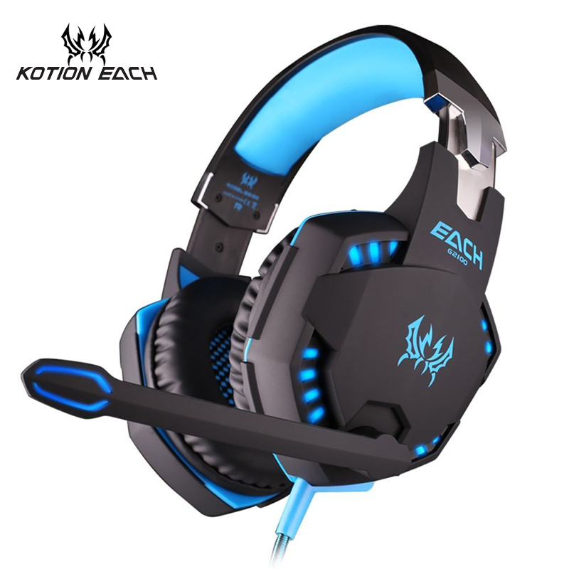 KOTION EACH G210 vibrator Gaming headset vibration Headphone casque gamer Stereo Headphone with microphone for computer PC kotion each g2100 gaming headset stereo bass casque best headphone with vibration function mic led light for pc game gamer