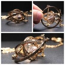Hp Potter Movie Time Turner ожерелье с песочными часами шесть фаланги волшебные палочки для ключей подвеска металлическая фигурка кольцо для ключей с игрушкой ожерелье