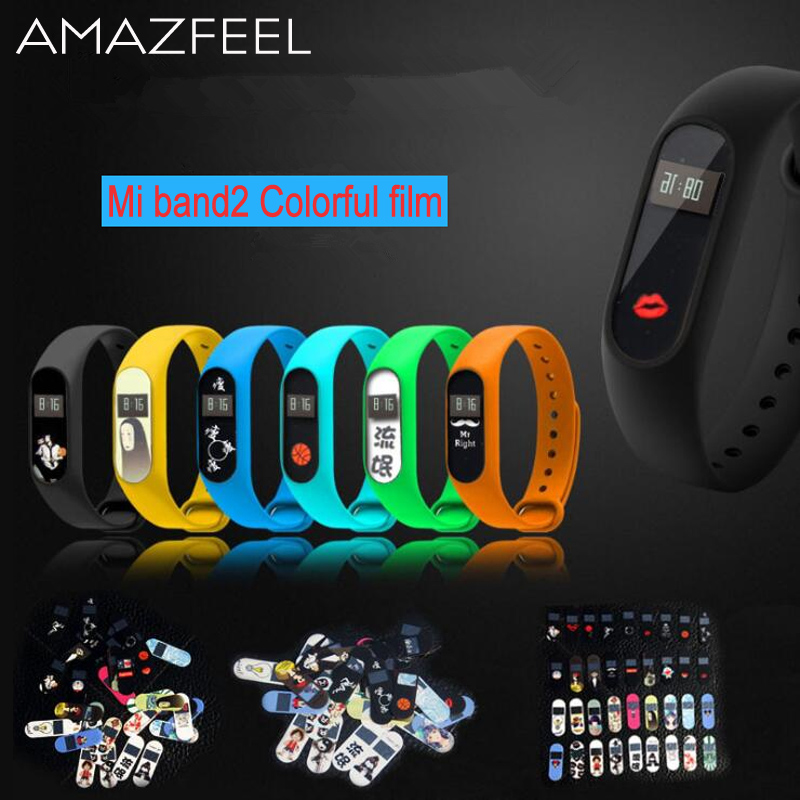 30pcs/pack Screen Protector for Xiaomi Mi Band 2 Smart Wristband Colorful Ultrathin Miband 2 Screen Protective Film Miband2