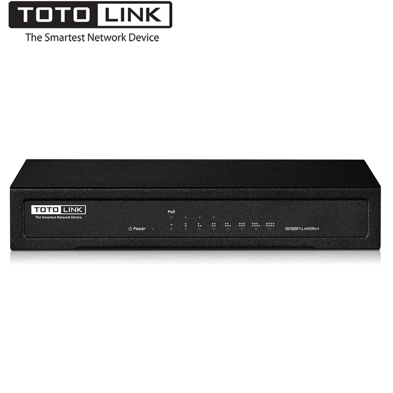 TOTOLINK SW804P 8-Port 10/100Mbps Ethernet Switch with 4-Port PoE, Smart Fast Network PoE Switch for AP, IP Camera, Easy for Use цены