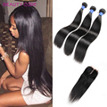 3 BundlesBrazilian Virgin Hair Straight With Closure  Brazilian Straight Hair With Closure 7a Unprocessed Cheap Human Hair Weave