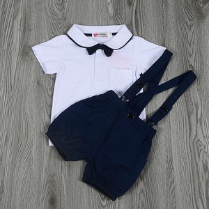 Image 5 - New Summer Baby Clothes Baby Gentleman Short Sleeves Clothes Baby Bodysuits Kids Wear Boys Rompers 6pieces/lot Hot Sale