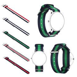 Черный нейлоновый ремешок для часов Розовое Золото Серебро Пряжка для Daniel Wellington18mm 20 мм заменить браслет ремешок для часов для часы DW