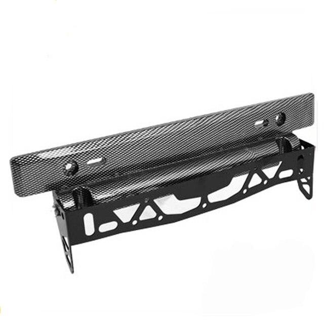 Car License Plate Frame Carbon Fiber Pattern Design in Black ...