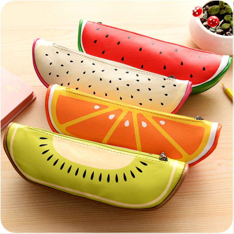 Desk Storage Bag Fruit Cute Lovely Pencil Bag Organizer Case Pen Case School Stationary Study Stationary