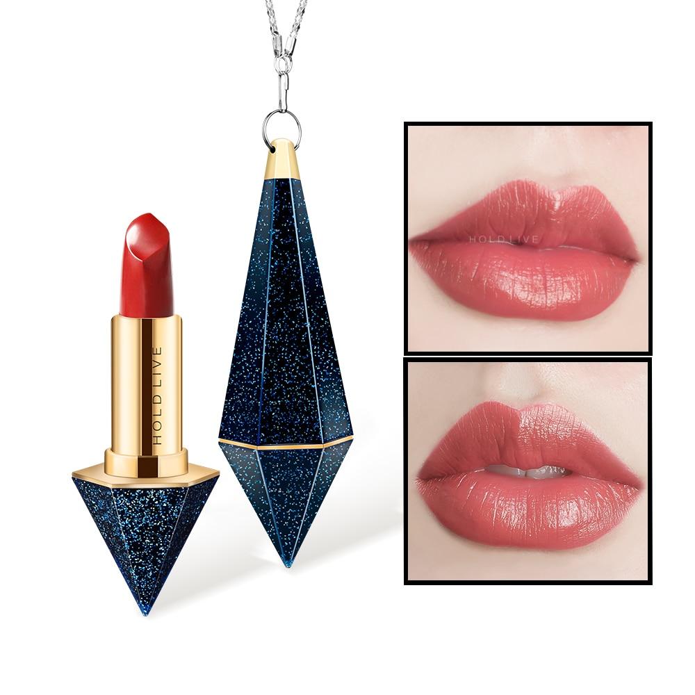 цена на HOLD LIVE Matte Lipstick Red Lips Makeup Brand Waterproof Long Lasting Velvet Lip Stick Korean Cosmetics 6 Colors Lipsticks Kit