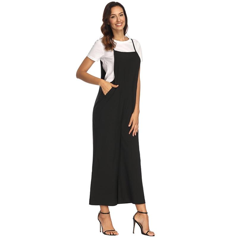 62574539da 2019 Summer Jumpsuit Romper Women Long Playsuit Jumpsuit Female Bib ...