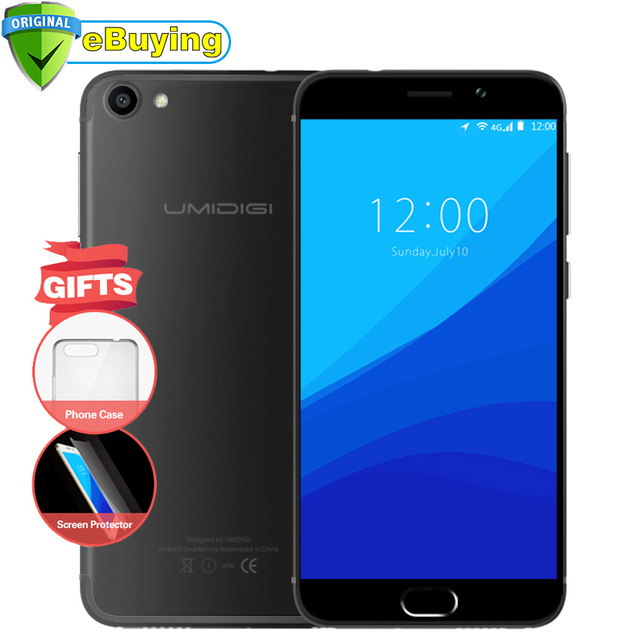 UMIDIGI G Android 7.0 Smartphone MTK6737 Quad Core 5.0 inch Screen Cell Phone 2G RAM 16G ROM Fingerprint Unolock 4G mobile phone