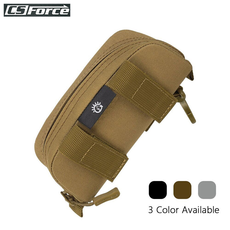 Tactical Molle Glasses Carry Case Outdoor Hard Portable Sunglasses Box Shockproof Waterproof Protective Box Eyewear Accessoies