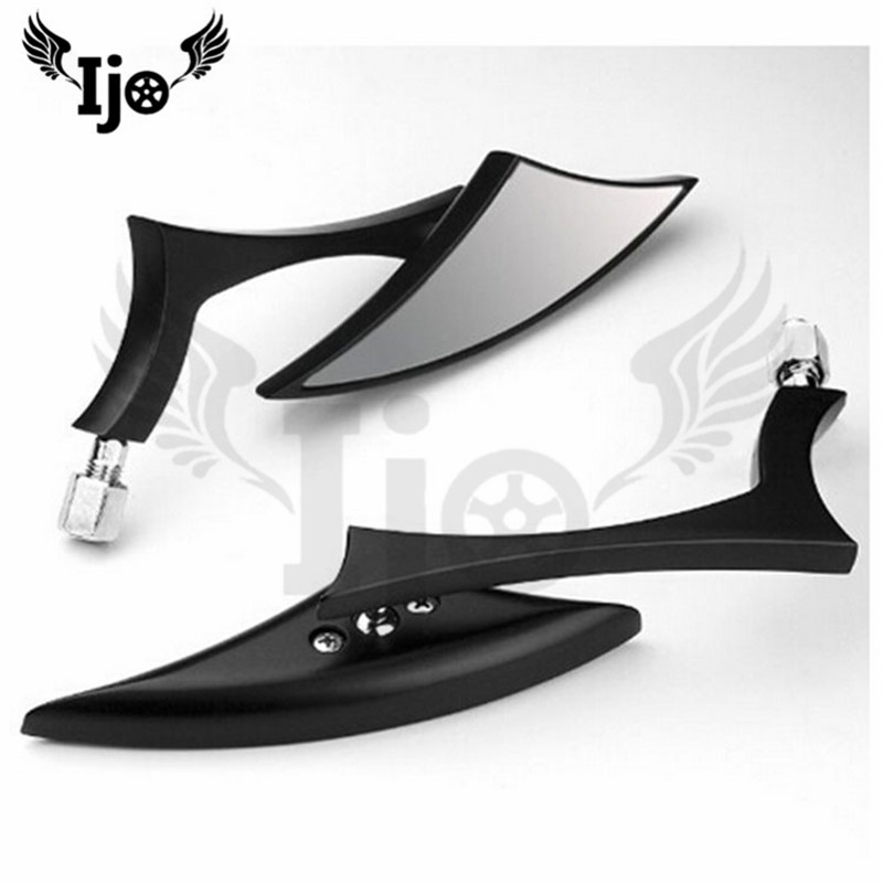 black triangle metal moto side mirror for harley motorcycle rearview mirror motorbike backup mirror image